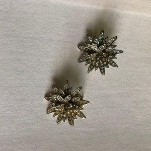 J. Crew jeweled flower earrings